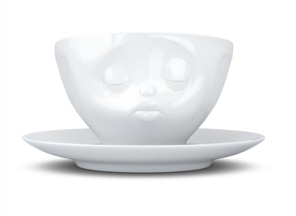 """Europe Coffee cup """"Kissing"""" white"""