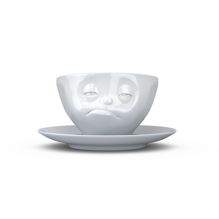 "Europe Coffee cup ""Snoozy"" white"