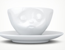 """Europe Espresso Cup """"Kissing"""""""