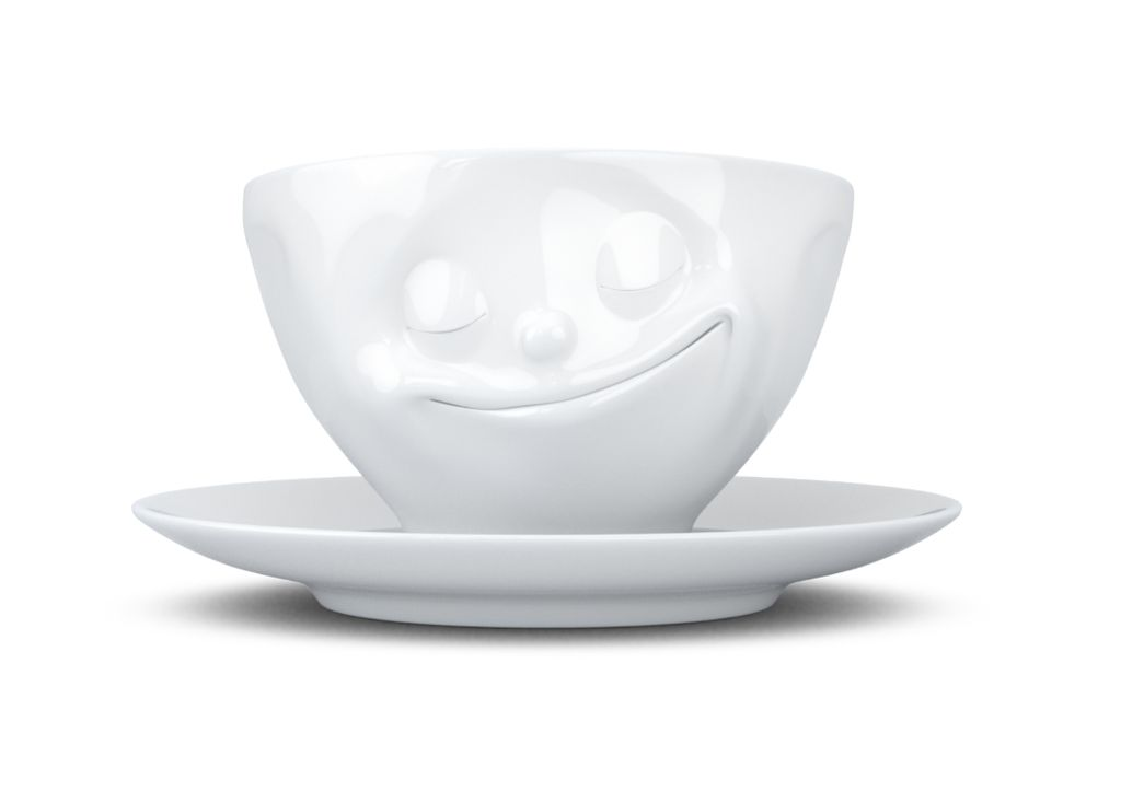 "Europe Coffee cup ""Happy"" white"