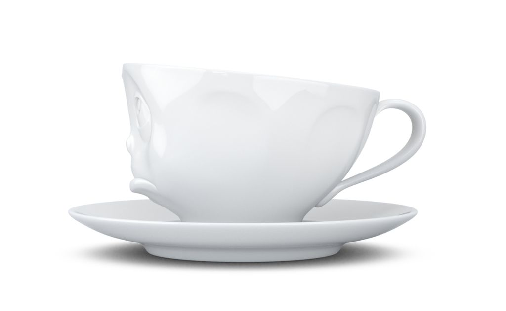 """Europe Coffee cup """"Oh please"""" white"""