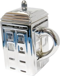 Australia Dr Who - TARDIS Mug with Lid (Silver)