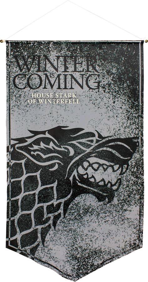 Australia Game of Thrones - Stark of Winterfell Satin Banner