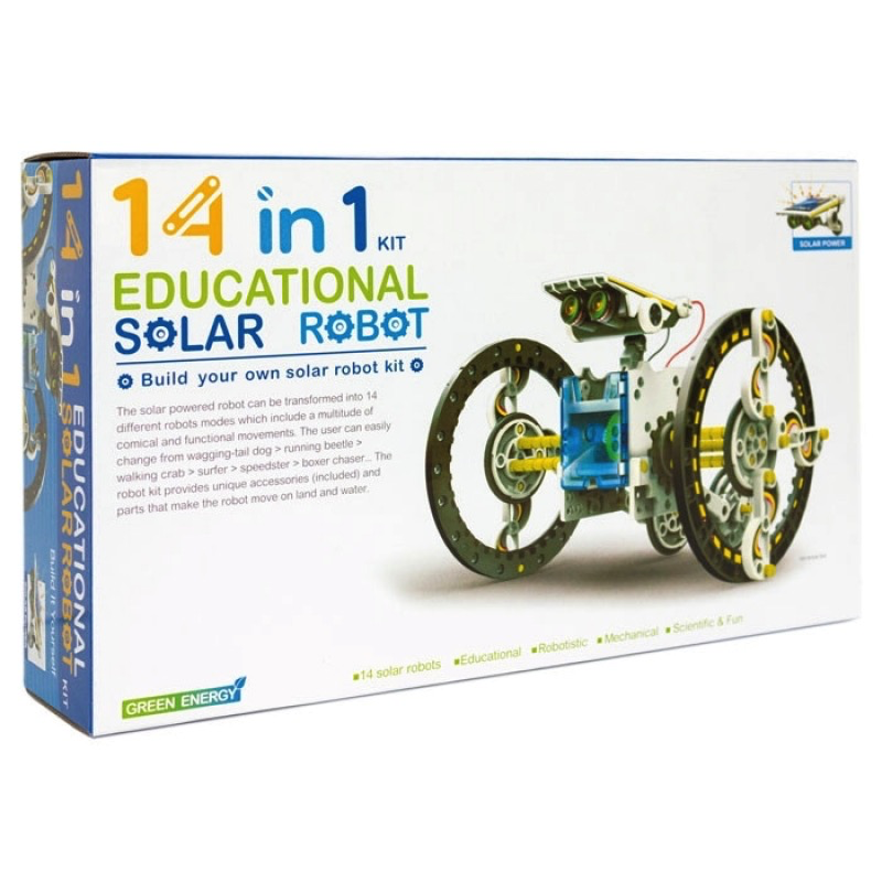 Australia 14 IN 1 EDUCATIONAL SOLAR ROBOT