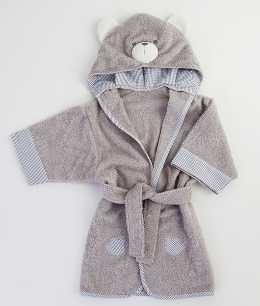 Australia BEAR HOODED BATHROBE - GREY