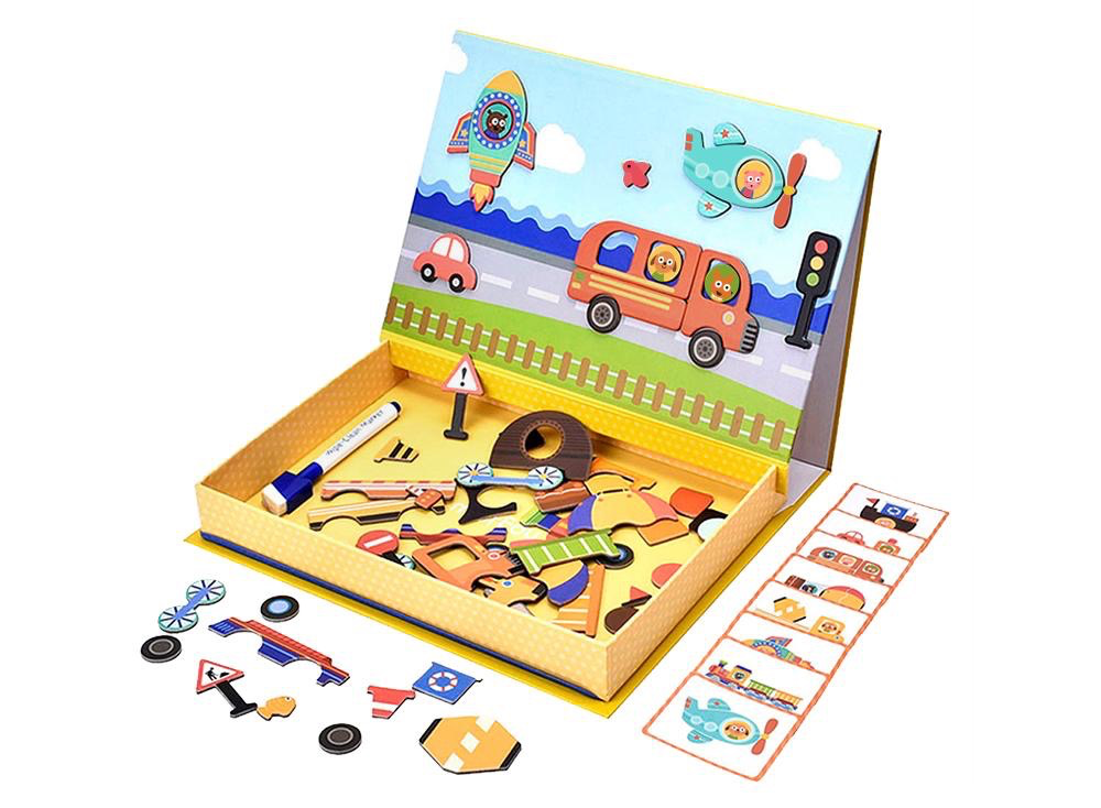 Australia Mleredu Magnetic Toy:Magnetic Art Case Vehicles