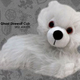Australia Game of Thrones - Ghost Direwolf Cub Prone Plush