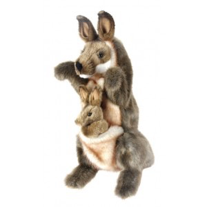 Australia Kangaroo and Joey PUPPET 29cm