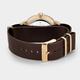 Australia CLUSE Aravis Nato Leather Gold White/Dark Brown
