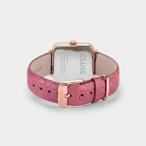 Australia CLUSE La Tetragone Rose Gold White / Soft Berry Alligator