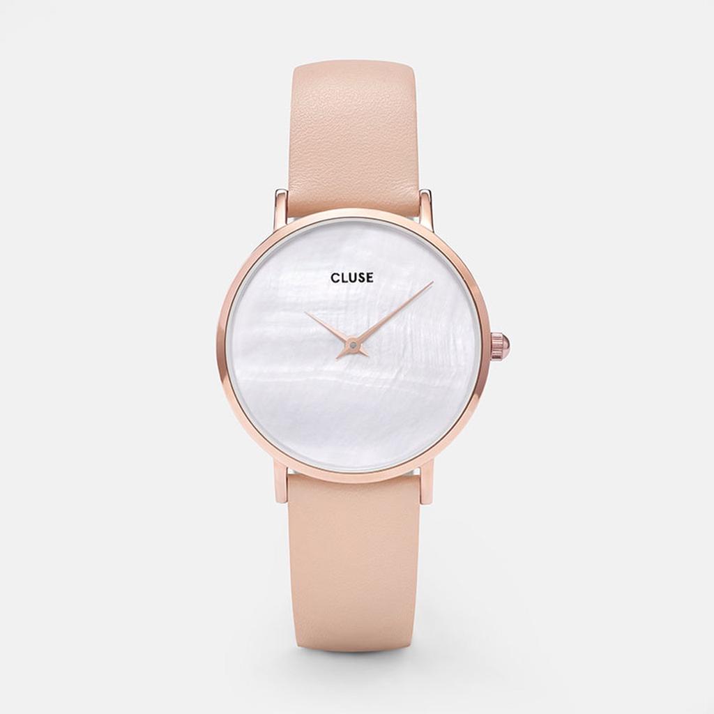 Australia CLUSE Minuit La Perle Rose Gold White Pearl/Nude
