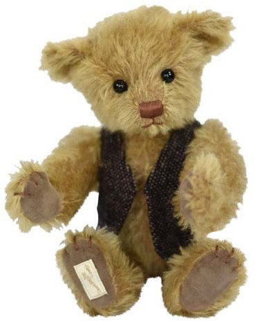 Europe DEANS Teddy Robbie, mohair, color: honey 5-fold jointed, cleanable, beans in body, limit: 299 pcs