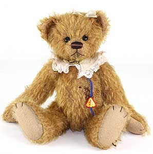 Europe Teddy Lisa, mohair color: dark caramel, Design: Anna Dazumal, limited edition: 299 pcs