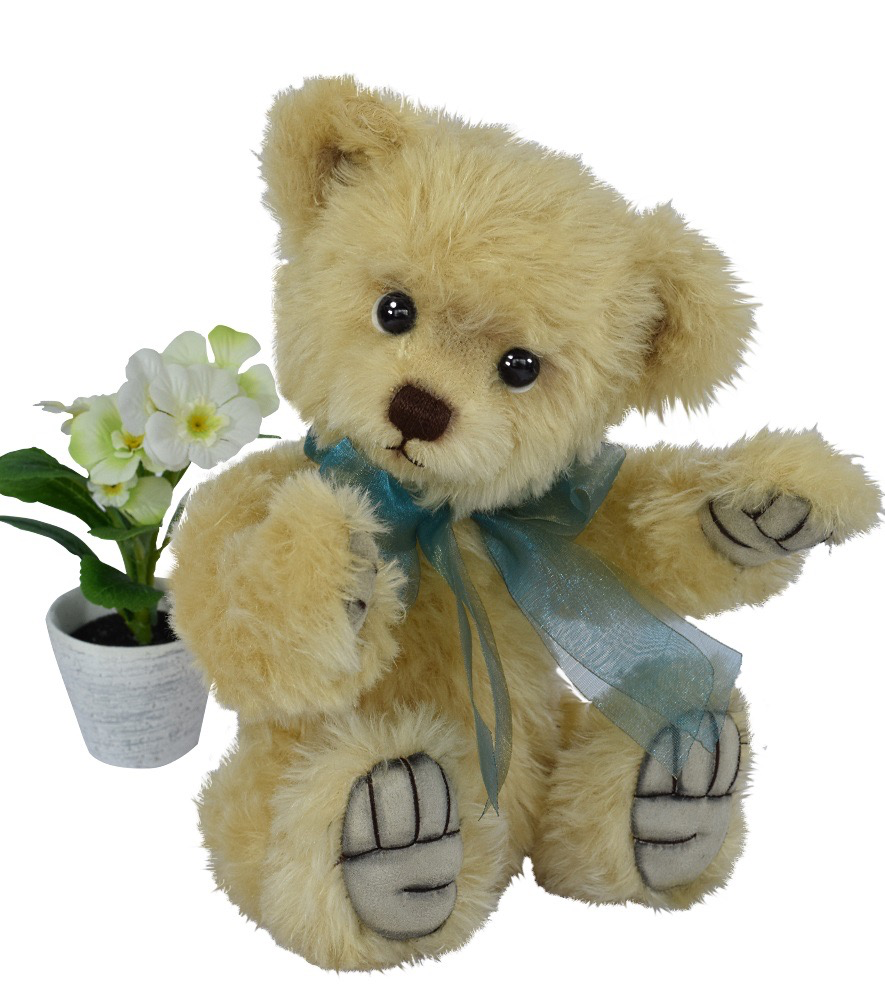 Europe Teddy Benno, mohair, 5-fold jointed, color: light gold Design: Ren Bears, limited edition: 233 pcs