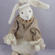 Europe Rabbit K. Ninchen, high quality soft plush, color: white 5-fold jointed, Design: Martina Lehr, limited edition: 333 pcs