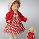 Europe Wooden doll Bettina 20cm