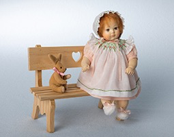 Europe Wooden doll Evelyn 15cm