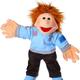 Europe Thilo, kleiner Junge mit Poloshirt Handpuppe 45 cm Living Puppets