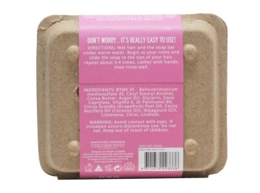 Australia Earth Love 80G Hydrating Conditioning Bar - Coconut & Pink Grapefruit