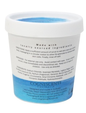 Australia COARSE BODY SCRUB - SEA SALT & COCONUT SPLOTCH 200GM TUB