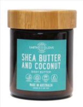 Australia EARTH LOVE 200G BODY BUTTER -SHEA BUTTER AND COCONUT