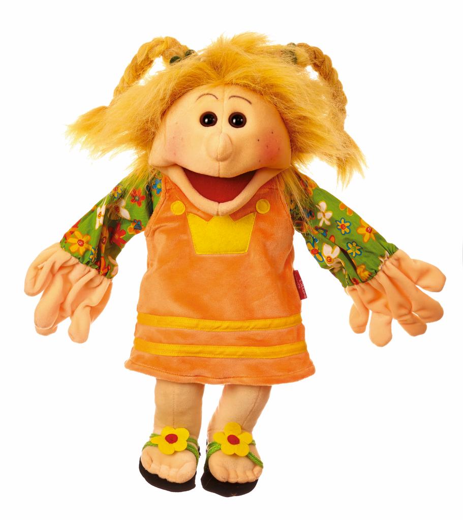 Europe Kleine Jenny. Madchen mit geflochtenen ZOpfen Handpuppe 45cm Living Puppets