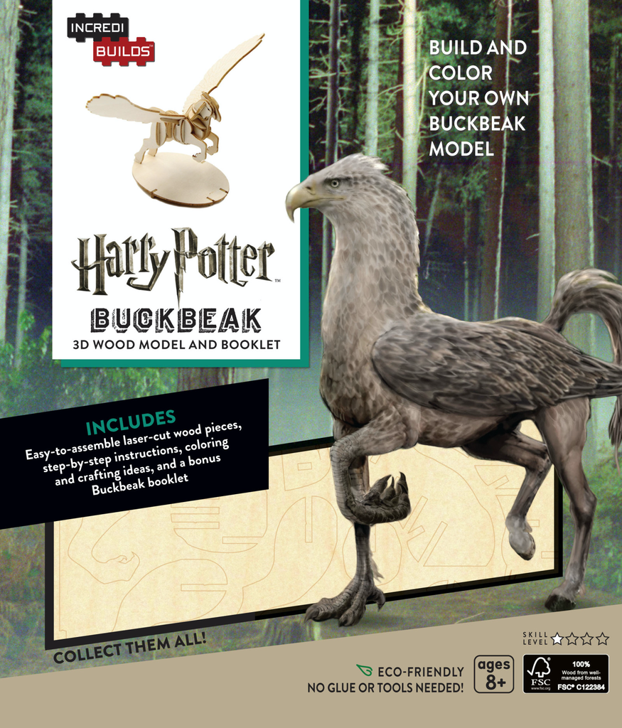 Australia Incredibuilds Harry Potter Buckbeak 3D Wood Model and Booklet