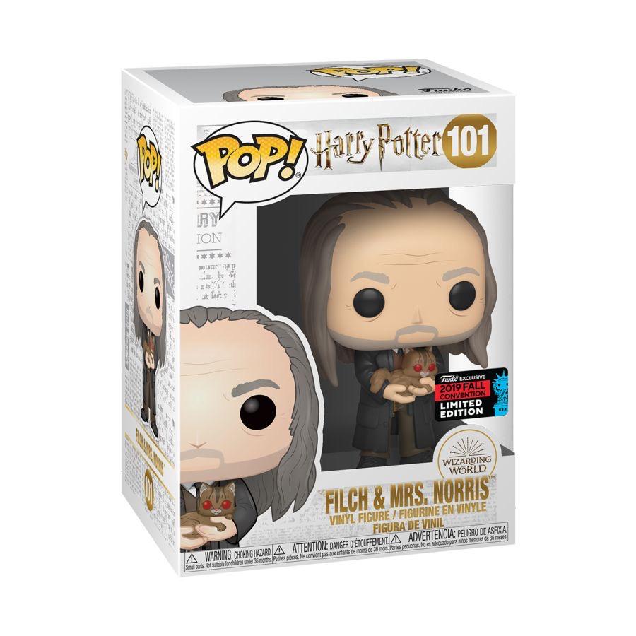 Australia Harry Potter - Filch &Mrs Norris Yule Pop! NY19 RS
