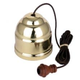 Australia Ceiling Pull Switch Brown Cord Polished Brass Cover