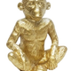 Australia 15CM SITTING MONKEY - GOLD