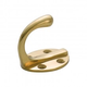 Australia Robe Hook Single Oval BP Polished Brass H50xP42mm