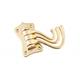 Australia Robe Hook Triple Swivel Polished Brass H75xW45xP100mm