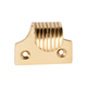 Australia Sash Lift Reeded Polished Brass H40xW44xP28mm