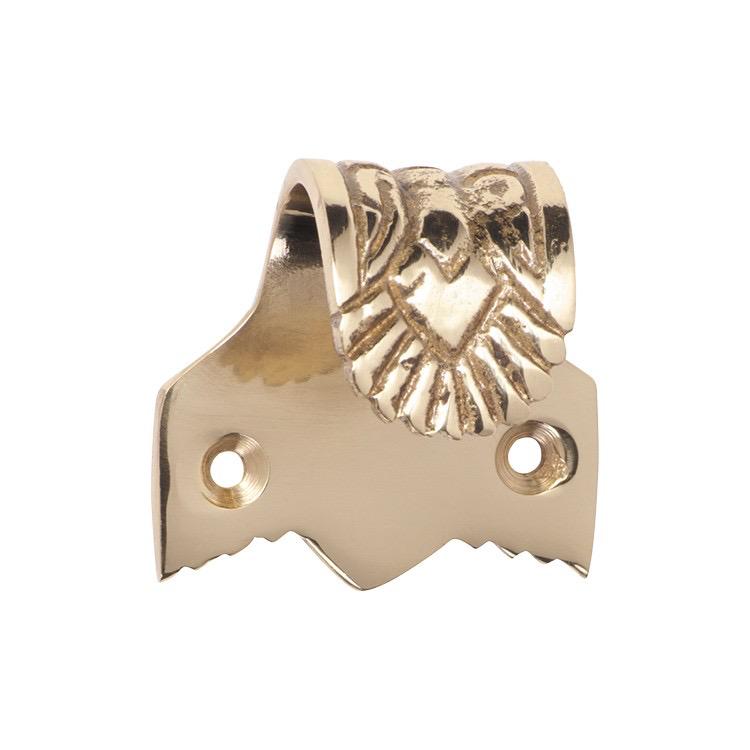 Australia Sash Lift Ornate Polished Brass H40xW40xP28mm