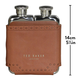 Australia Double Hip Flask Brown Brogue