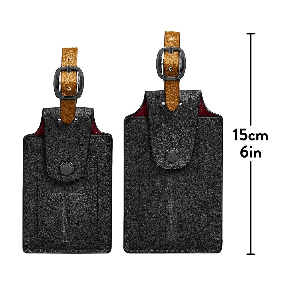 Australia Luggage Tag set of 2 Black
