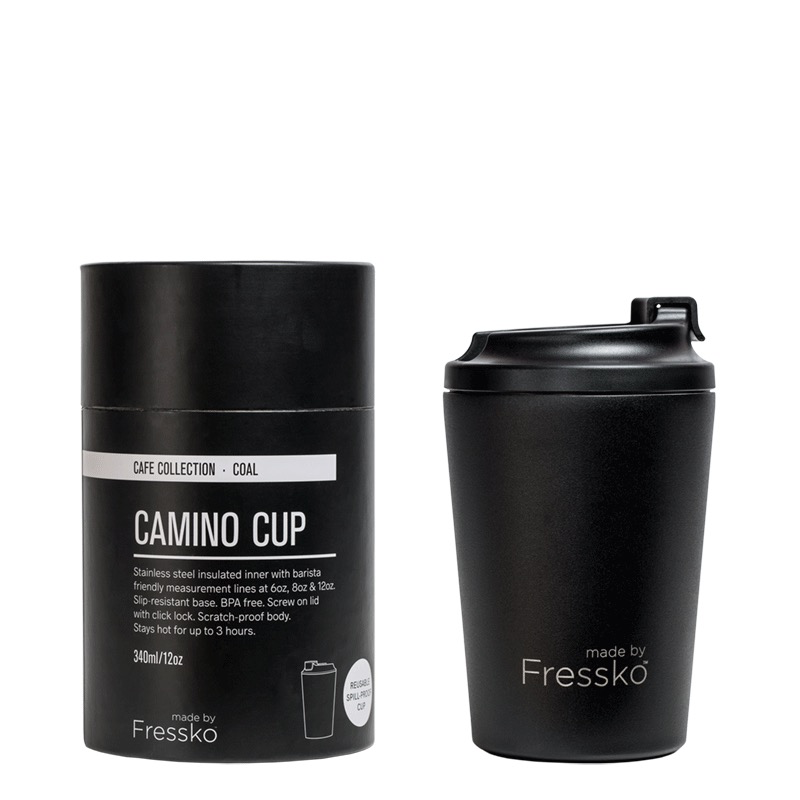 Australia Camino Black/Coal 12oz Keep Cup