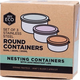Australia EVER ECO S/Steel Round Containers Spring Pastels - Set of 3