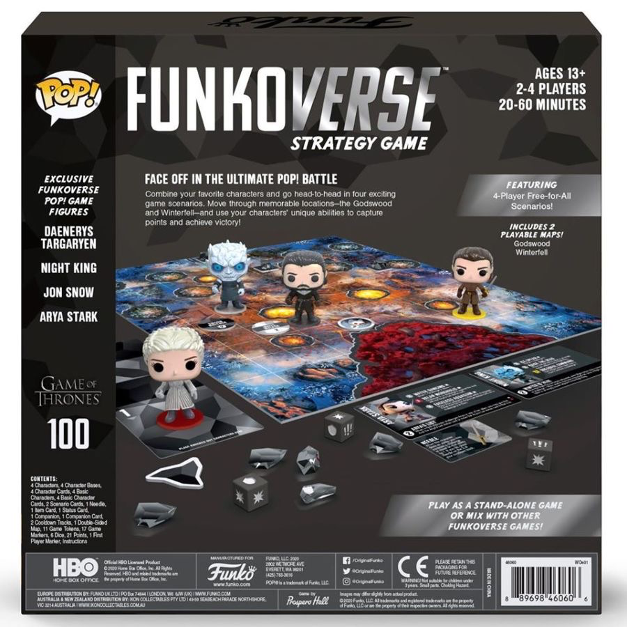 Australia Funkoverse - Game of Thrones 100 4pk Board Game