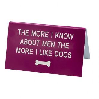Australia DESK SIGN LARGE: THE MORE 1 LIKE DOGS