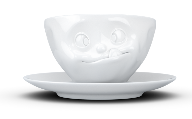 """Europe Coffee cup 'Tasty"""" white"""