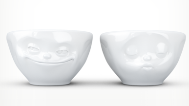 "Europe Small bowl set ""Kiss&Grinn"""