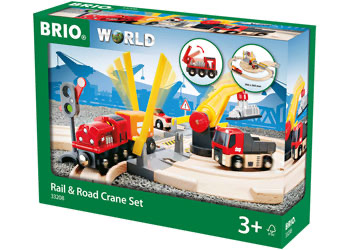 Australia Brio Set - Rail & Road Crane Set 26pcs