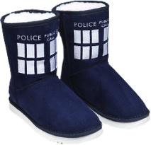 Australia Dr Who - TARDIS Boot Slipper Ladies Size 9