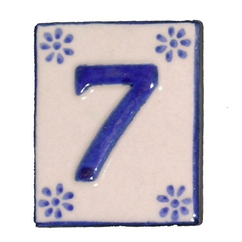 Australia #7 TILE Blue/White Ceramic