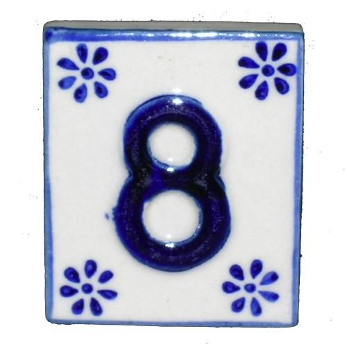 Australia #8 TILE Blue/White Ceramic
