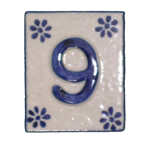 Australia #9 TILE Blue/White Ceramic