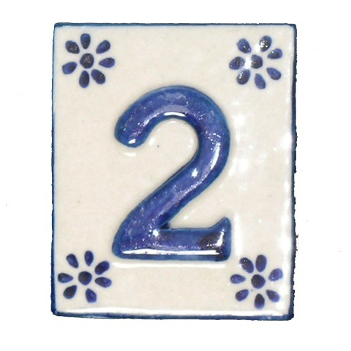 Australia #2 TILE Blue/White Ceramic