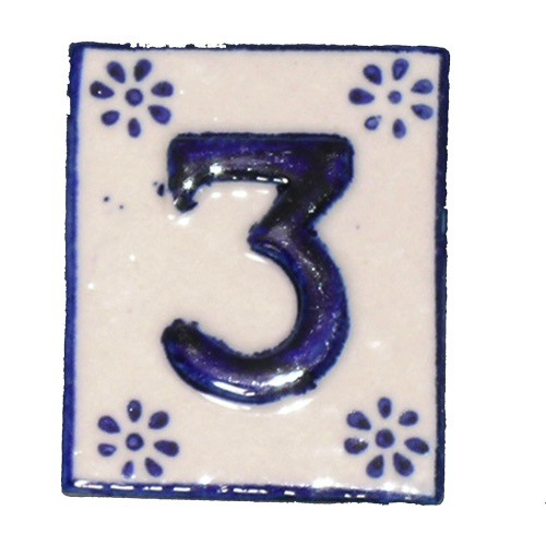 Australia #3 TILE Blue/White Ceramic
