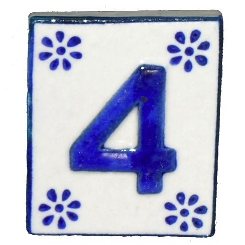 Australia #4 TILE Blue/White Ceramic